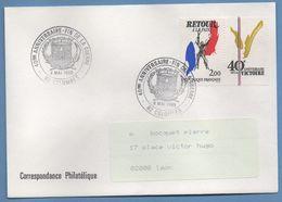 BT Bureau Temporaire 40é An Fin De La Guerre Colombes 1985 / N° 2368 Concordant Voy TB  39 45 - Seconda Guerra Mondiale
