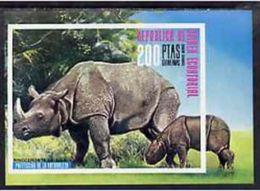 Guinea Equat. 1976, Animals, Rhino, BF IMPERFORATED - Rhinozerosse