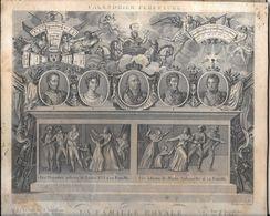 Calendrier Perpetuel 1816/1823 La Famille Royale Sa Magesté Louix XVII 5 Portraits - Calendars