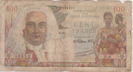 BILLETE DE OUTRE-MER DE 100 FRANCS AÑOS 1947-49 (BANK NOTE) - France