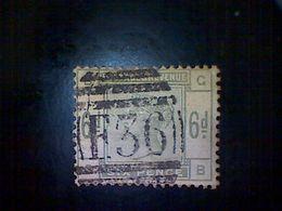 Great Britain, Scott #105, Used(o), 1884, Queen Victoria, 6d, Dull Green - 1840-1901 (Victoria)