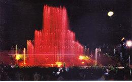 INDIA : COLOUR PICTURE POST CARD : TOURIST CENTRE :  VRINDABAN / BRINDAVAN : ENCHANTING MUSICAL FOUNTAIN - India