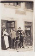 """Carte-Photo Non Située Devanture Magasin """"Dépôt De Sels Marins - Son Fleurage Crislures"""" Métier Vélo Bicyclette (2 Scans - Métiers"""
