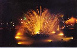 INDIA : COLOUR PICTURE POST CARD : TOURIST CENTRE :  VRINDABAN / BRINDAVAN : VIEW OF ILLUMINATED FOUNTAINS - India
