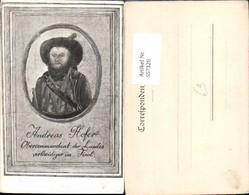 557326,tolle Künstler AK Tiroler Freiheitskampf Andreas Hofer Portrait - Geschichte