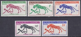 Dahomey Benin 1963 Tiere Fauna Animals Raubkatzen Cats Panther Portomarken Postage Due, Mi. 32-6 ** - Benin – Dahomey (1960-...)