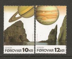 """FÄROE ISLANDS /FØROYAR / FÄROËR / ILES FÉROÉ - EUROPA 2009  - TEMA  """"ASTRONOMIA"""" - SERIE De 2 V.  - DENTADA - 2009"""