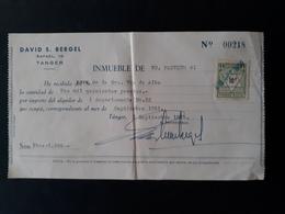 Maroc Espagnol - Marruecos - Tanger 1955 - Recibo De Alquiler (loyer) - Lote N° 2 - Marruecos Español
