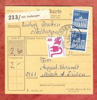 Paketkartenteil, MiF Brandenburger Tor + Unfallverhuetung, Molbergen Nach Merode 1972 (45820) - [7] Repubblica Federale