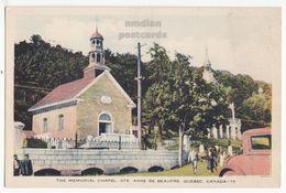 STE ANNE DE BEAUPRE Quebec Canada MEMORIAL CHAPEL C1930s Vintage Postcard PQ QC - Ste. Anne De Beaupré