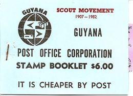 GUYANA, Booklet 21, 1982, Scouting, Overprint 1 On SB15 - Guyana (1966-...)