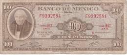 BILLETE DE MEXICO DE 100 PESOS DEL AÑO 1972   (BANKNOTE) - México