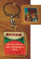 Porte-clés Cornichons Amora Et Nounours En Image Qui Bouge - Schlüsselanhänger