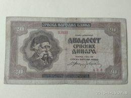 20 Dinara 1941 - Serbia
