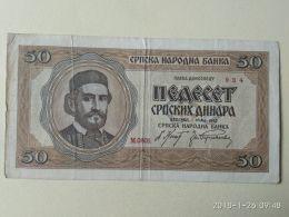50 Dinara 1942 - Serbia