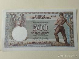 500 Dinara 1942 - Serbia