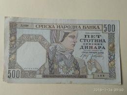 500 Dinara 1941 - Serbia