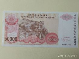 50000 DINARA 1993 - Serbia