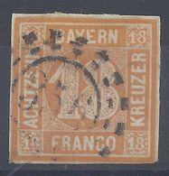 BAVIERE - 1849-50 - N° 8 - Oblitéré - B/TB - Cote 240 € - Bavière