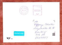 Brief, Postfreistempel, Prostejov Nach Leonberg 2013 (45835) - Tschechische Republik