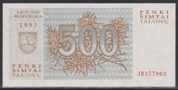Lithuania 500 Talonu 1993 UNC - Lithuania