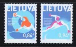 Lithuania,Lietuva ,Litauen.Lituanie . 2018 Set Of Two MNH  XXIII Winter Olympic Games - Lituanie