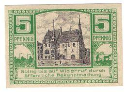 Deutschland Notgeld 5 Pfennig Tieste4965.05.20 NEUSTADT /114M/ - Lokale Ausgaben