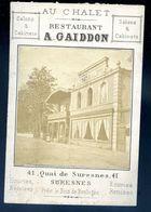 Photographie Originale Albuminée Restaurant Gaiddon Au Chalet à Suresnes SEP17-93 - Lieux