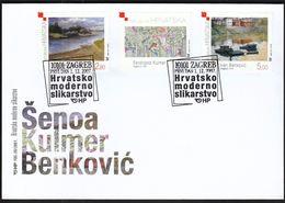 Croatia Zabok 2007 / Croatian Modern Art / Painting / Senoa, Kulmer, Benkovic / FDC - Croatia