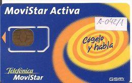 TARJETA GSM MOVISTAR - Espagne
