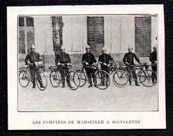 1906  --  LES POMPIERS DE MARSEILLE A BICYCLETTE   3N562 - Vecchi Documenti