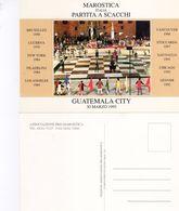 """Guatemala City  1995 -  Marostica Italia """" Partita A Scacchi """" - - Scacchi"""
