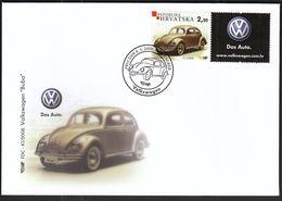 Croatia Zagreb 2008 / Volkswagen Beetle / Car / Das Auto / FDC - Croazia
