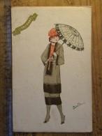 CPA Illustrateur  Riette Liette ? - Art Nouveau - Femme Ombrelle - Femmes