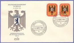 BER SC #9N118-9 1956 German Bundesrat Meeting FDC 03-16-1956 - [5] Berlin