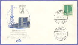 BER SC #9N122 1956 Radio Station, Berlin (no Top Inscription) FDC 09-15-1956 - FDC: Covers