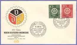 BER SC #9N140-1 1956 Civil Engineers FDC 05-12-1956 - [5] Berlin