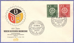 BER SC #9N140-1 1956 Civil Engineers FDC 05-12-1956 - FDC: Covers