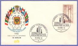 BER SC #9N143 1956 German Industrial Fair FDC 09-15-1956 - FDC: Covers