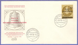 BER SC #9NB17 1956 Bell, W/surcharge FDC 08-09-1956 - [5] Berlin