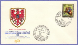 BER SC #9NB18 1956 Postrider, Brandenburg FDC 10-26-1956 - FDC: Covers