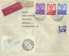 Express Brief  Zürich  (Satzfrankatur Freiburger Senn)               1936 - Lettres & Documents