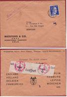 WW2 WWII Hitler 25 Pf. Deutsches Reich 1941 Oberkommando Der Wehrmacht Firma Colignon Antwerpen Niesters & Co GMBH Koln - Deutschland