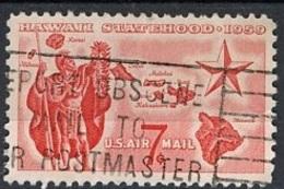 Etats Unis - Vereinigte Staaten - USA Poste Aérienne 1959 Y&T N°PA55 - Michel N°(?) (o) - 7c Hawaii - Poste Aérienne