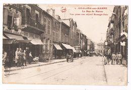 CHALONS Sur MARNE  51 Rue De La Marne Animée En 1919 - Châlons-sur-Marne