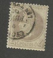 FRANCE - N°YT 27 OBLITERE CAD LYON LES TERREAUX - COTE YT : 90€ - 1863/66 - 1863-1870 Napoléon III Lauré
