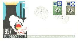NETHERLANDS 1957 EUROPA CEPT FDC - Europa-CEPT