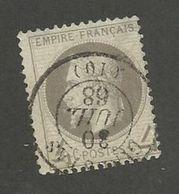 FRANCE - N°YT 27 OBLITERE CAD DU 30/7/1868 PIQUAGE EST - COTE YT : 90€ - 1863/66 - 1863-1870 Napoléon III Lauré