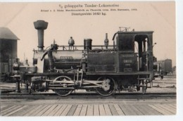 Locomotive 048, Verlag Johannes Leonhardt 1418, Gekuppelte Tender-Lokomotive, Erbaut Von Der Sächs, Maschinenfabrik Chem - Trains