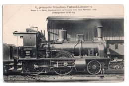 Locomotive 049, Verlag Johannes Leonhardt 165, Gekuppelte Schnellzugs-Verbund-Lokomotive, Erbaut Von Der Sächs, Maschine - Trains
